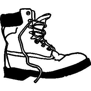 Work boot clipart.