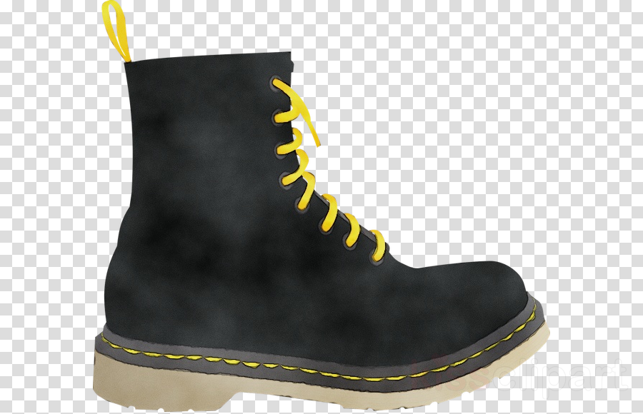 footwear work boots shoe yellow boot clipart.
