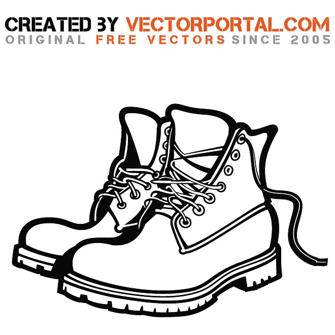 Work boots clipart.