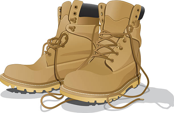 Work Boot Clipart.