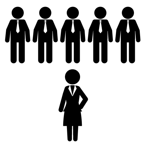 Woman boss clipart.