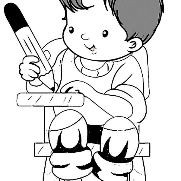 Kids At Work Clipart Black And White intended for Kids.