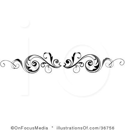 Free Scroll Work Clip Art, Scroll Border Free Clipart.