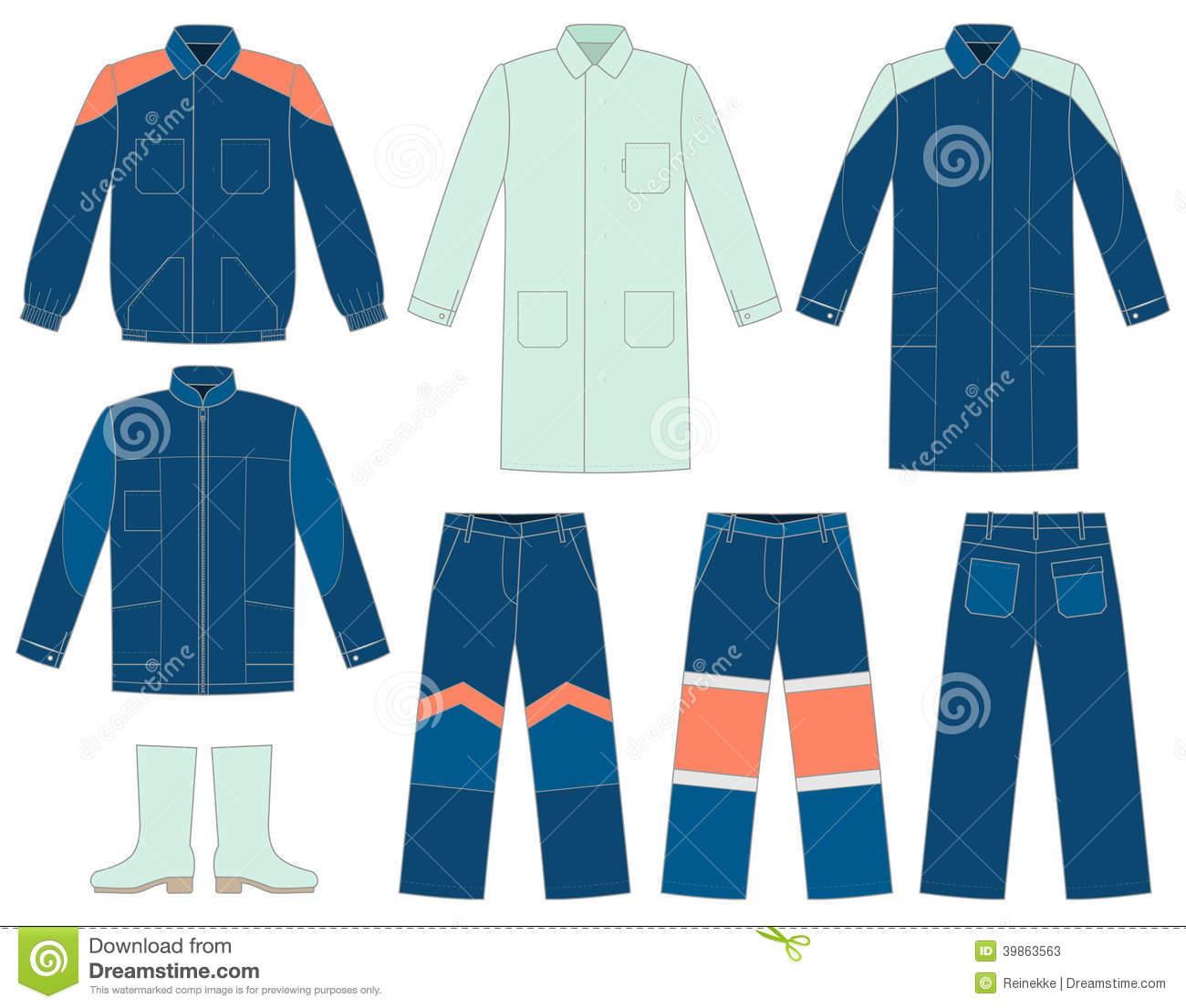 Work uniform clipart.