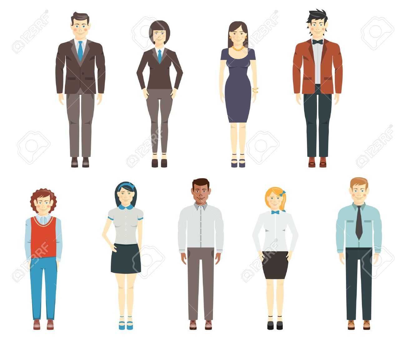 857 Professional Business Dress Women Stock Illustrations.