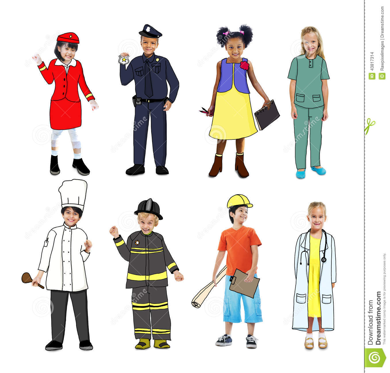 Work uniforms clipart.