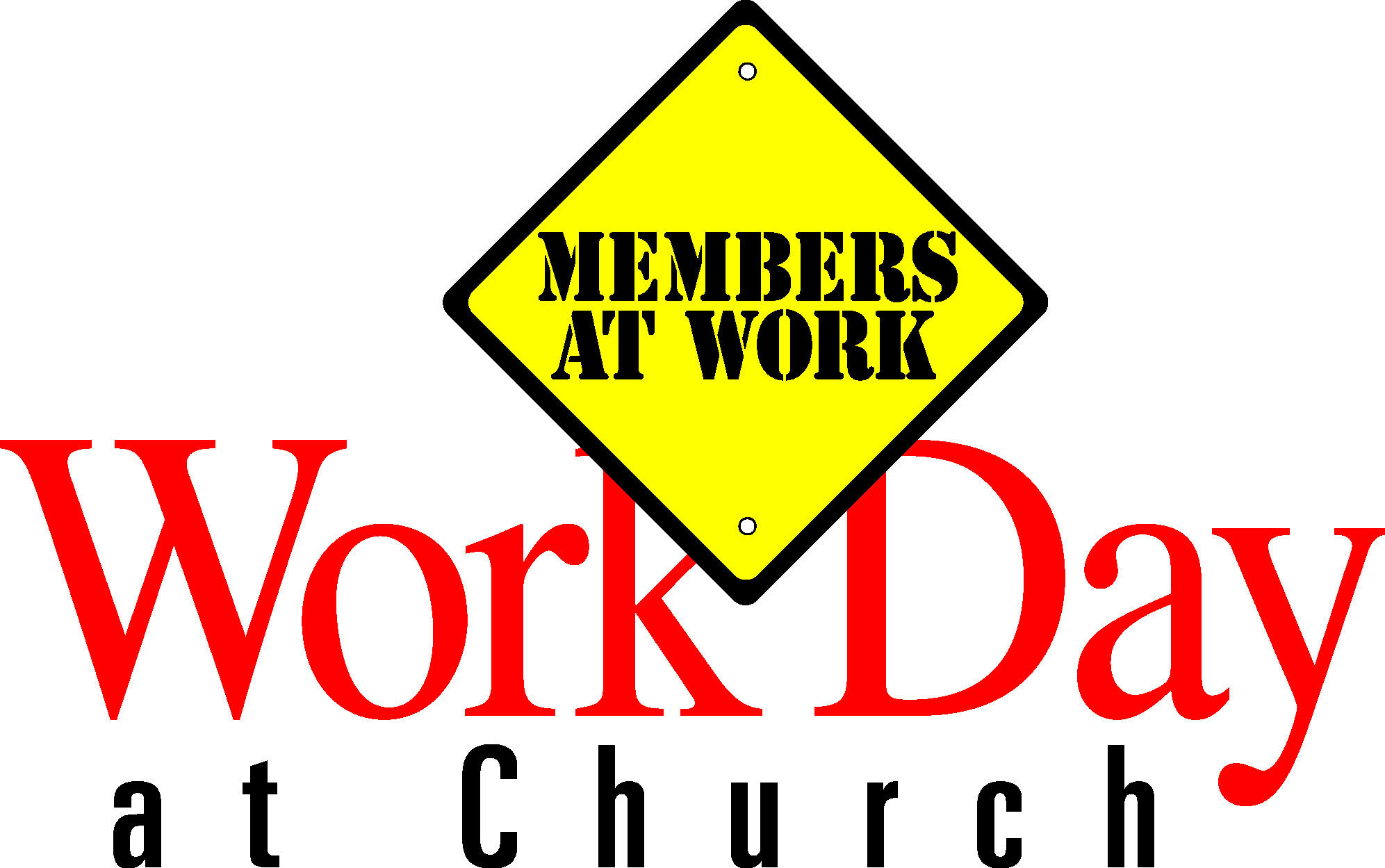 Church Work Day Clean Up Clip Art free image.