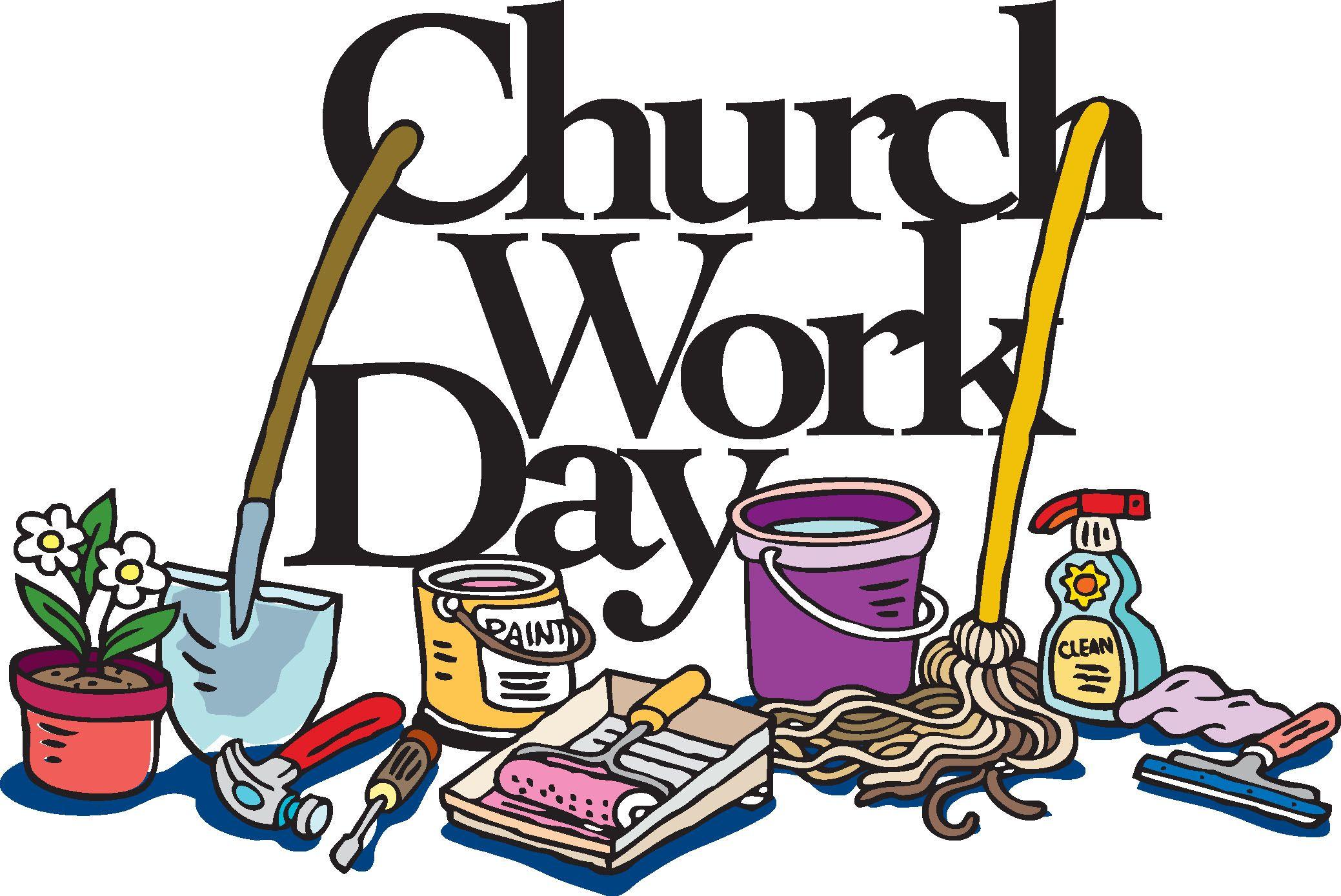 Church Work Day Clip Art.