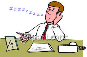 Person working at desk clipart.