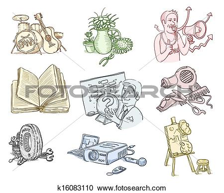 Clipart of Work Equipment and Tools k16083110.
