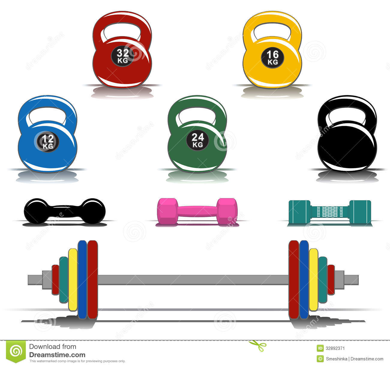 Work out equipment clipart.