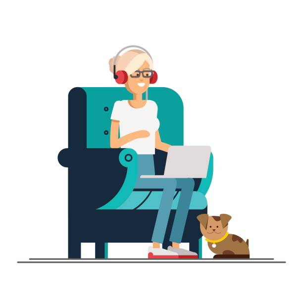 Best Work From Home Illustrations, Royalty.