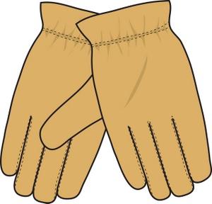 Work Gloves Clipart.