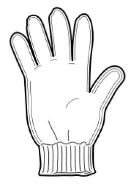 Mittens Clip Art Black And White