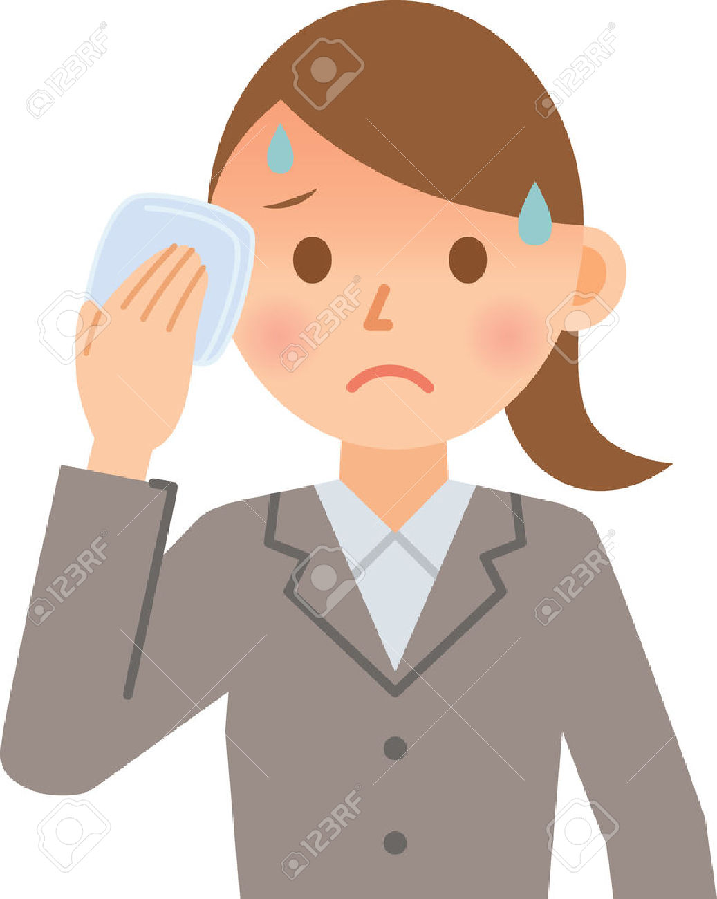 Businesswoman Sweating Royalty Free Cliparts, Vectors, And Stock.