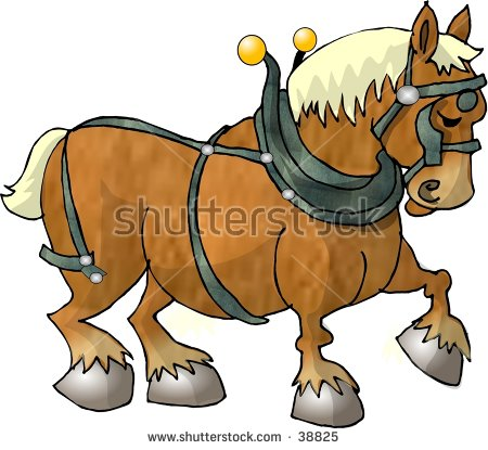 Clipart Illustration Of A Work Horse.