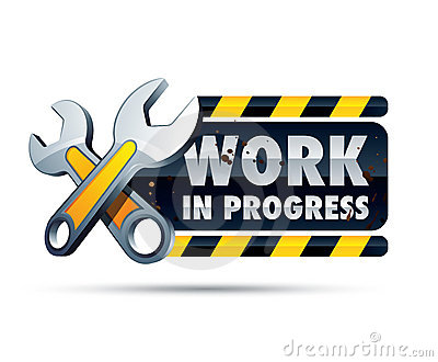 Work In Progress Sign Royalty Free Stock Photo.