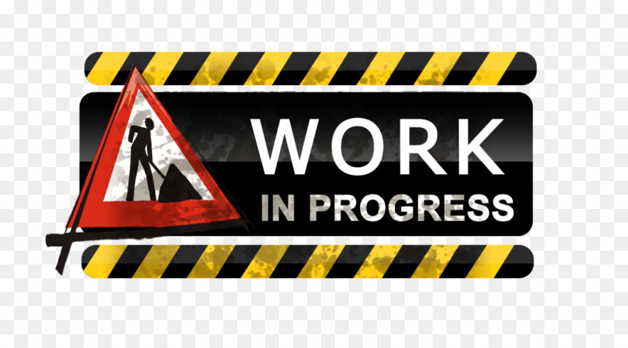 Work In Progress Yellow png download.