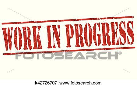 Work in progress sign or stamp Clip Art.