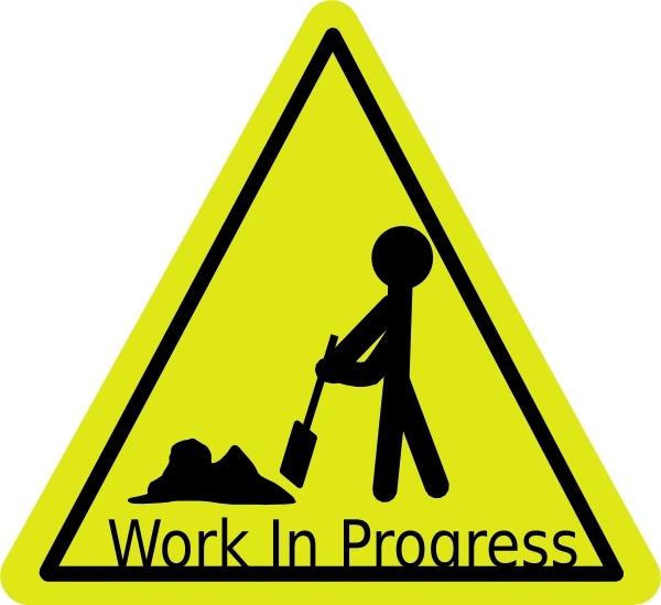 Work In Progress clip art Free vector in Open office drawing svg.