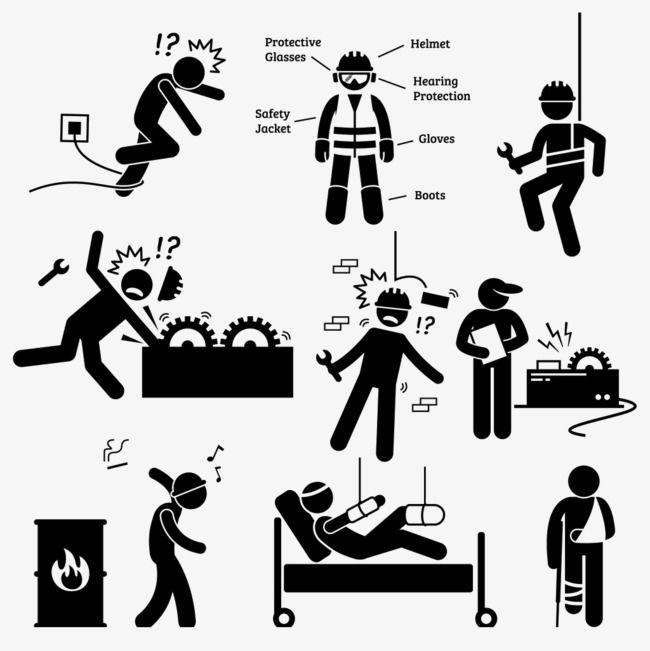 Stickman Safety Warning.