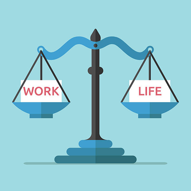 Best Work Life Balance Illustrations, Royalty.
