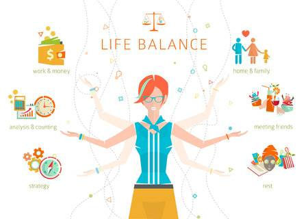 2,553 Work Life Balance Cliparts, Stock Vector And Royalty Free Work.