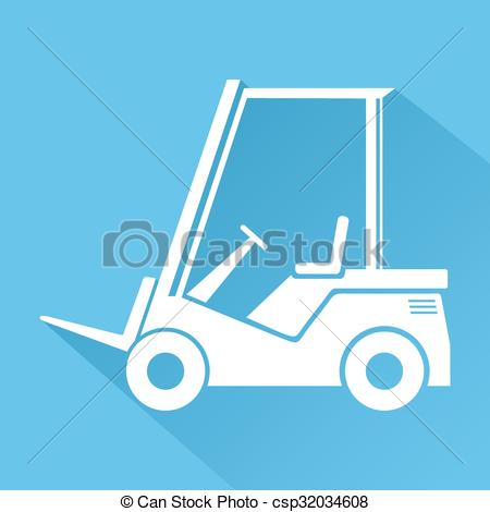 Vector Clipart of work machine symbol.