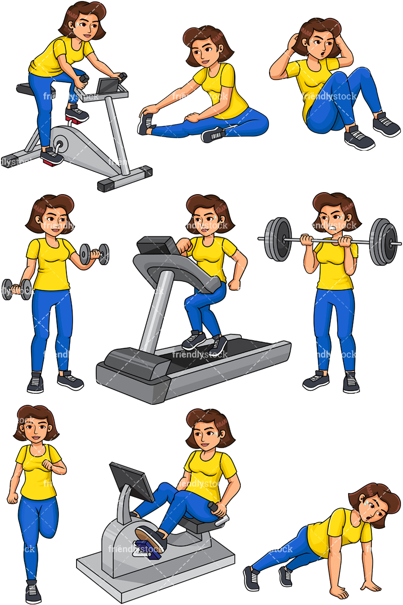 Woman Working Out.