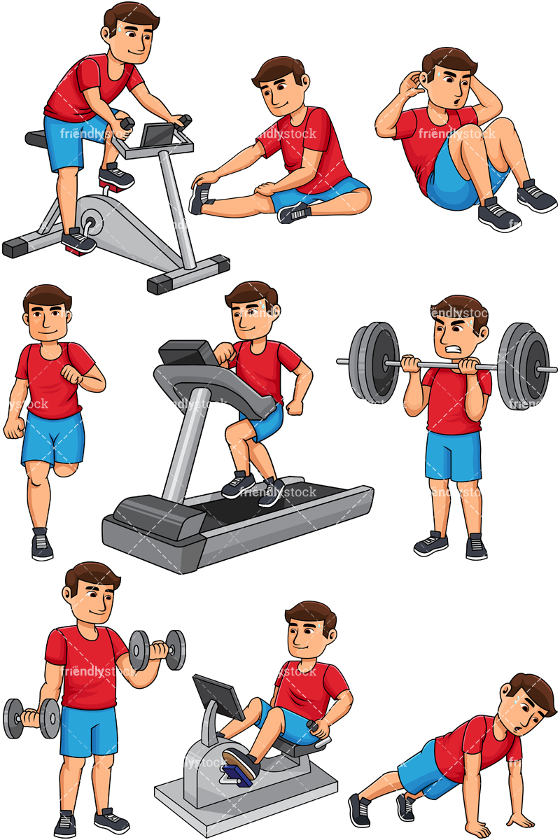 Man Working Out.