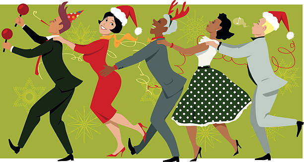 Best Office Christmas Party Illustrations, Royalty.