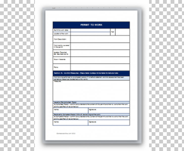 Document Template Permit To Work Work permit Computer.