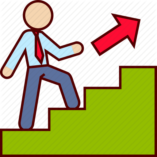Staircase clipart work promotion, Staircase work promotion.