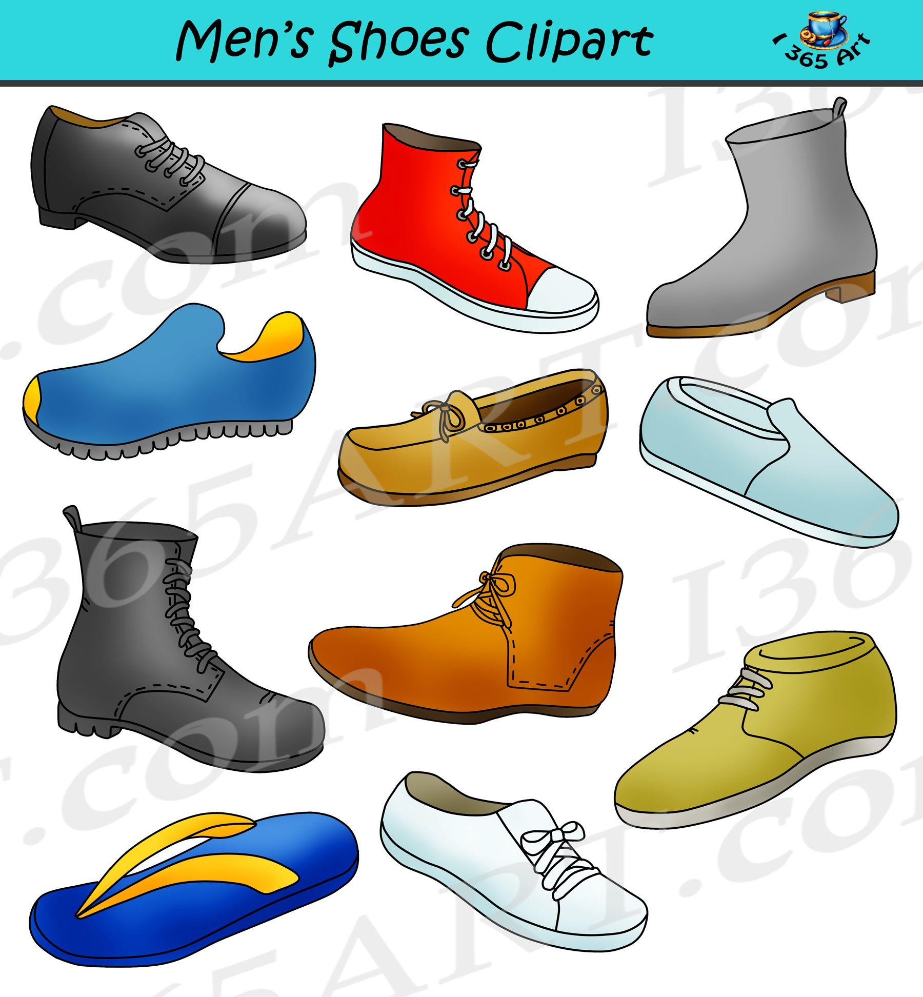 Mens Shoes Clipart.