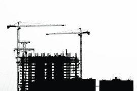 Building construction site clipart.