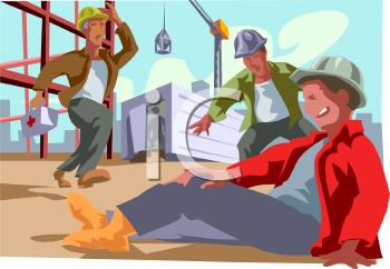 Construction Worker Injured at Work Site.