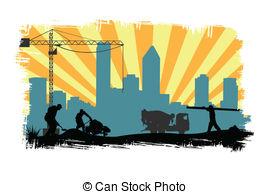 Stock Illustration of work site.