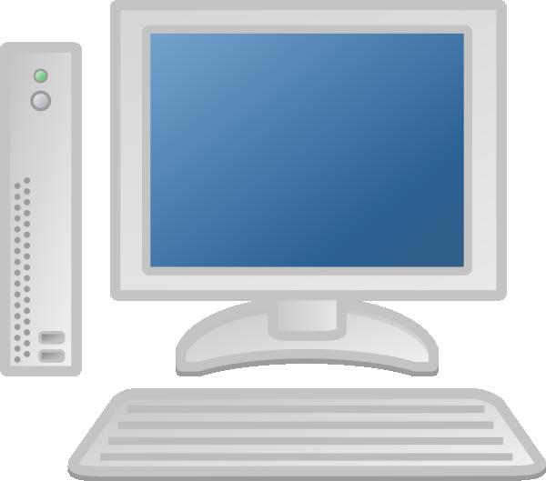 White Computer Desktop Clip Art at Clker.com.
