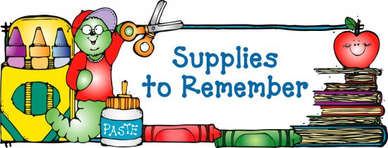 School supplies work supplies clipart.