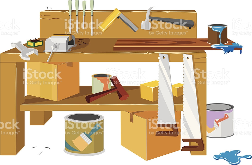 Work Bench Clip Art, Vector Images & Illustrations.