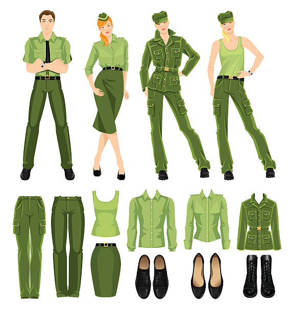 Military Formal Uniform Clip Art, Vector Images & Illustrations.