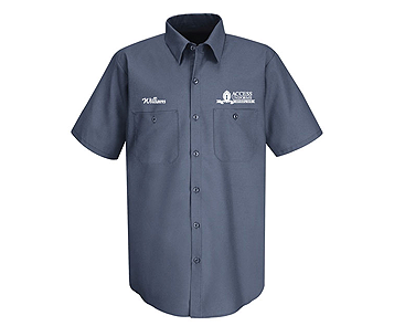 Company uniforms with Logos.