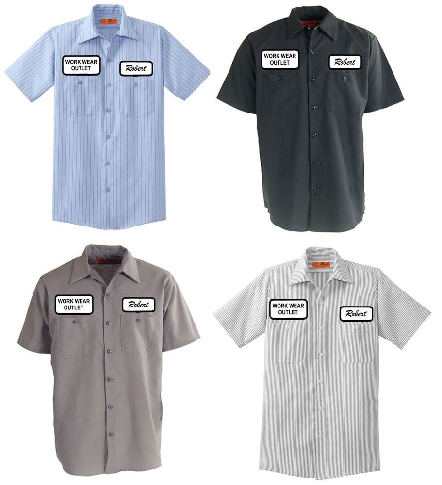 Work uniforms with Logos.
