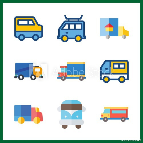 lorry icon. truck and van vector icons in lorry set. Use.