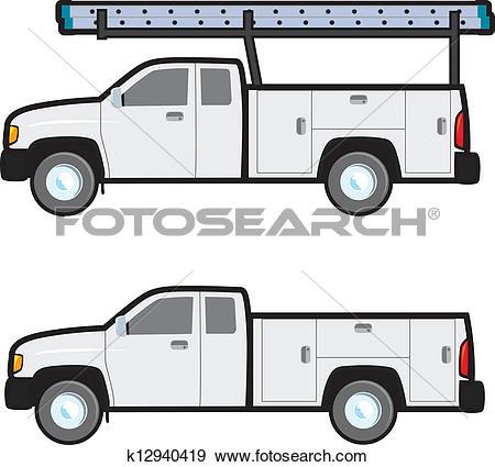 Clip Art of Work Truck k12940419.