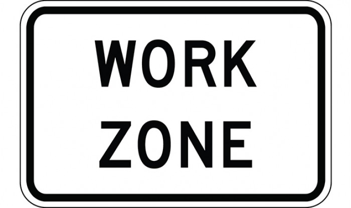 Work Zone Construction Sign.