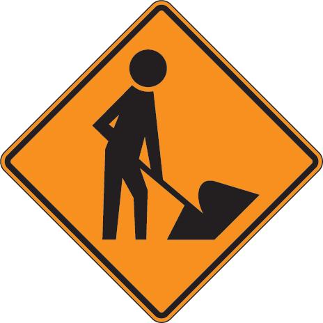Men At Work Sign.