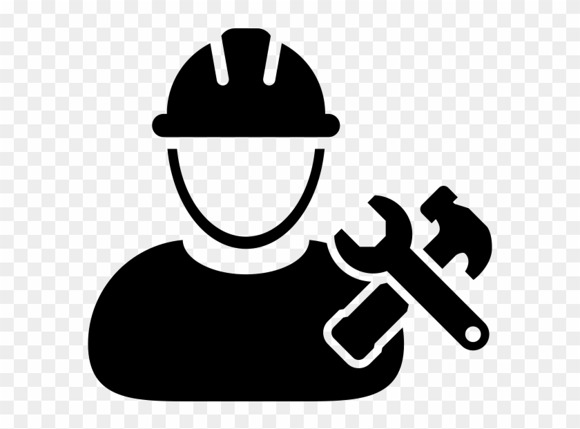 Vector Construction Worker Icon, HD Png Download.