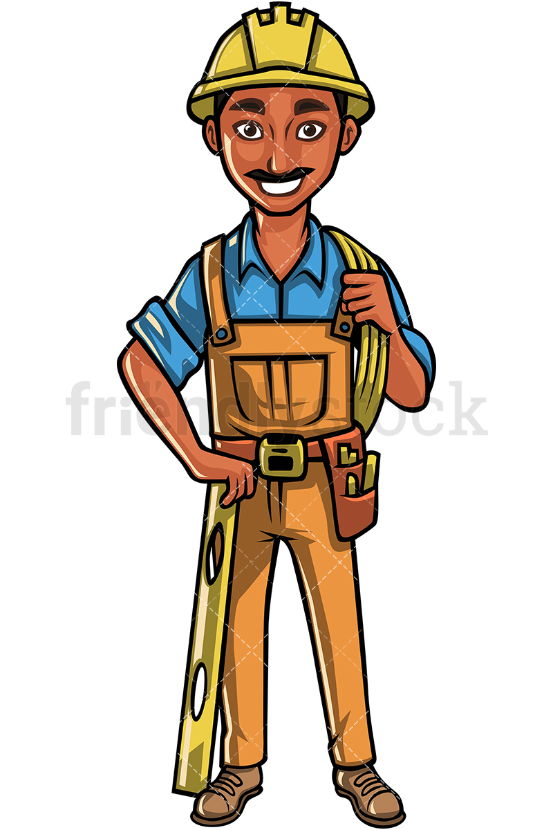 Indian Construction Worker.
