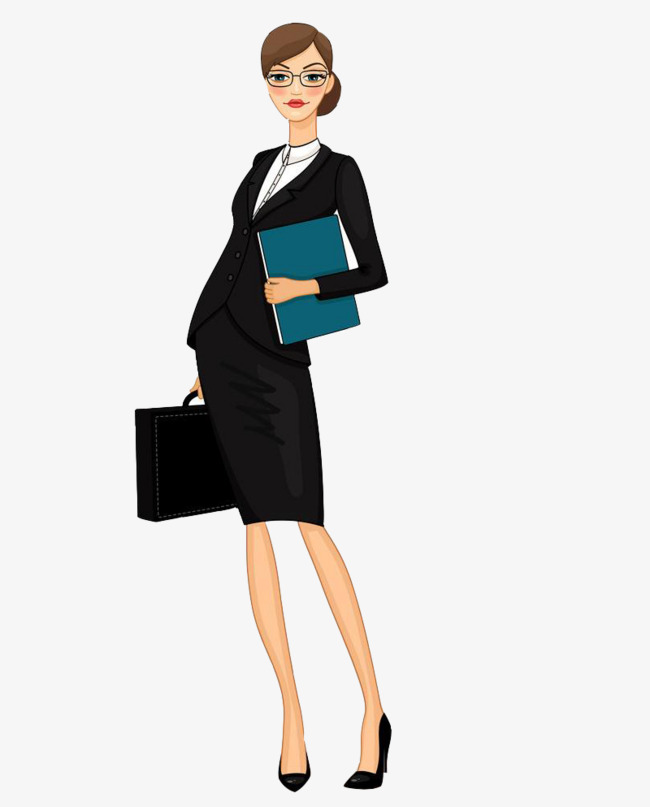 Work Woman, Work Clipart, Woman Clipart, Hand Painted PNG.